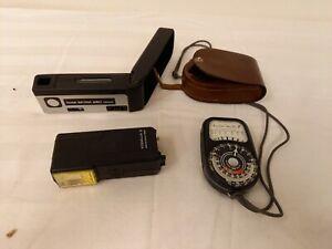 Weston Master 3 Light Meter and 2x Kodak Flashes Lighting Photography Job Lot
