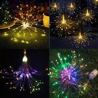 120/180LED Lichterkette Batterie Feuerwerk für Weihnachten Hochzeit Party Deko