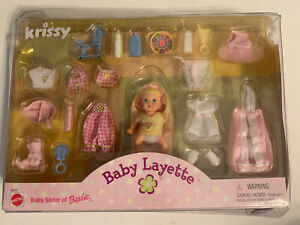 KRISSY Baby Layette Clothes Accessories Baby Sister of Barbie Sealed NIB 1999