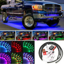 4x LED RGB Unterboden Beleuchtung 180SMD Auto Strip Farbwelchsel Wasserdicht