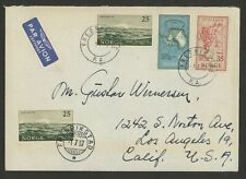 Norway Stamps Scott #355-357 on 1957 Unadorned First Day Cover South Pole Maps