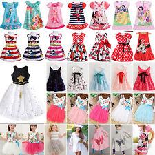 Kids Baby Girls Princess Dress Cartoon Minnie Mouse Summer Casual Party Sundress
