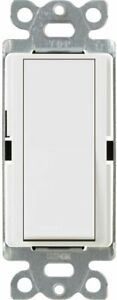 LUTRON single pole switch CA-1PS-WH White finish