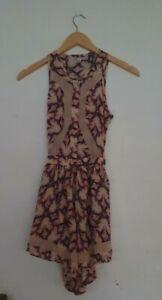 BLESS'ED ARE THE MEEK Label Women Ladies Purple Pink Playsuit Jumpsuit Size 6