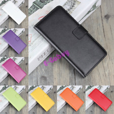 Luxury Genuine Real Leather Wallet Flip Case Cover For Samsung Galaxy Models