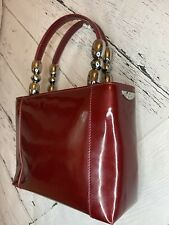 Authentic Maris CHRISTIAN DIOR Red Patent Leather Bag Tote