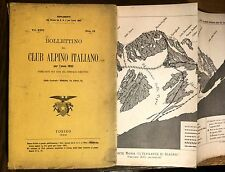 BOLLETTINO CLUB ALPINO ITALIANO 1892  Montagna Alpinismo Lozio Camonica Etna
