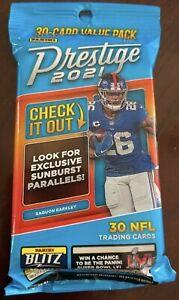 2021 Panini Prestige NFL Football - 30 Card Fat Pack - Sunburst Parallels SEALED