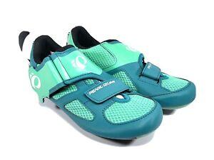 Pearl Izumi US 7 EU 37.5 W TRI Fly V Women's Cycling Shoes Deep Lake Gumdrop