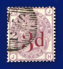 1883 SG159 3d on 3d Lilac Plate 21 K8A JH Lombard Street Good Used Cat £160 dfpj