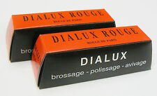 2 DIALUX RED ROUGE POLISHING COMPOUND GOLD JEWELRY POLISH for BUFFING WHEEL 2pc
