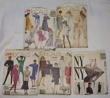 LOT Vintage MCCALLS Womens Easy Clothing Sewing Patterns DRESS SHIRT PANTS SKIRT
