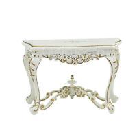 Dollhouse miniature furniture 1/12 scale Scene model Handpainted white Sidetabel