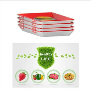 Creative Reusable Food Preservation Tray Stackable Magic Elastic Fresh Storage