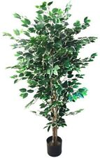 Artificial Plant Fake Indoor Outdoor 5 ft Ficus Tree Home Garden Decor Green New