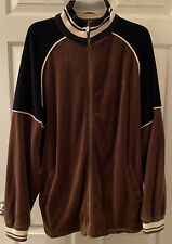 Vintage SEAN JOHN Full Zip Brown Velour Jacket Size Men's XL Sean Diddy Combs