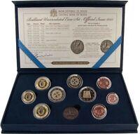 Malta 1 Cent bis 2 Euro 2015 KMS mit 2 Euro Parlamentarische Republik im Etui