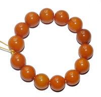 A stunning genuine quality amber round beads bracelet
