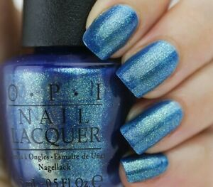 OPI Ford Mustang THE SKY'S MY LIMIT Iridescent BLUE Nail Polish Lacquer F71 New!