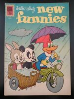 ⭐️ Walter Lantz NEW FUNNIES #288 (postal mail) (1962 DELL Comics) GD/VG Book