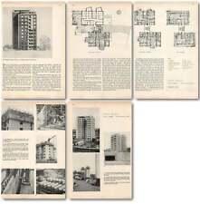 1952 Point Houses Scheme Bellahoj Copenhagen Architecture