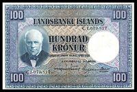 ICELAND 100 KRONUR L. 1928 SIGN. 11 PICK # 35 * Jon Sigurdsson *  XF / **