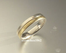 Neues AngebotEinzelstück * Ring * 925 Silber * 750 Gold * Brillant