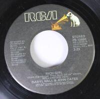 Country 45 Daryl Hall & John Oates - Rich Girl / London Luck, & Love On Rca