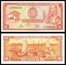 Peru 10 Soles 1976 (UNC) 全新 秘鲁 10印蒂 1976年 I442553236