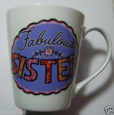 "ASHDENE ""FABULOUS SISTER LOVED ONES FLARED MUG 16183 PORCELAIN MINT IN CLEAR BOX"