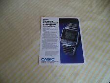 CASIO DATABANK  DB500    VINTAGE MAGAZINE ADVERT