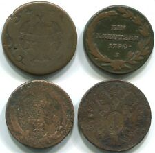 Austria Hungary C003 17xx,1790,17xx,1800, 1 Kreutzer Kreuzer (4 coins)