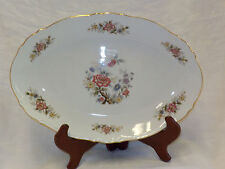 "Seyei China Tree Vintage Serving Plate 12.5"" Floral Scallop Gold Trim Edge 7001"