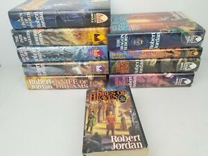 Robert Jordan The Wheel Of Time Series 10 Book Lot Hardcover One Paperback