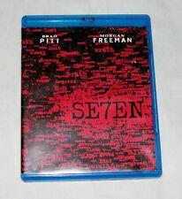 Se7en (Blu Ray, 2011) Seven Brad Pitt Morgan Freeman David Fincher 1995 Film