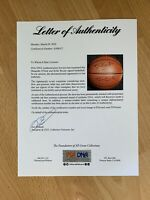 1999-00 LAKERS KOBE BRYANT SHAQUILLE SHAQ O'NEAL SIGNED AUTOGRAPH PSA/DNA BALL 1