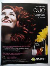 PUBLICITE-ADVERTISING :  GARNIER Olia  2014 Coiffure