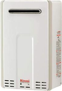 Rinnai V65e REU-VC2025W-US 6.5 GPM 150,000 BTU Outdoor Tankless Water Heater, Na