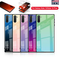 Luxury 3D Tempered Glass Slim Back Case Cover For Samsung Galaxy Note 10+ Plus