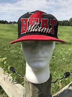 New Era Miami Heat Black Snapback Hat Cap Hardwood Classics Fast Ship