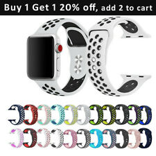 Silicone Sport band compliance with apple watch band series 5 4 3 2 38/40/42/44