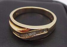 STUNNING 14K YG MENS DIAMOND BAND RING .50 tcw SZ 10.5  G110592  5.76 grams