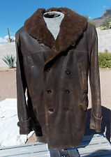 Early Mail Plane & Barnstormer Heavy Leather Flight Jacket with Fold Up Collar