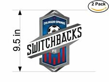 Soccer Colorado Springs Switchbacks FC Logo 2 Stickers 9.5 Inches Sticker Decal
