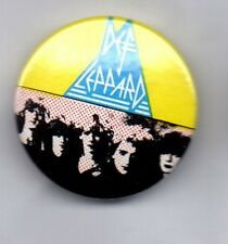 DEF LEPPARD  BUTTON BADGE -ENGLISH ROCK BAND 80s ROCK -HYSTERIA, ADRENALIZE 25mm