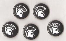 1x SHARP Button Oi! Oi Skin Skinhead Punk Antifa RASH Trojan Skins Spirit of 69