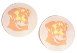 Beige Silicone Golden Retriever Table Trivet Office Coaster Kitchen Hot Pad