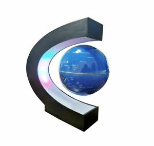 """4"""" Magnetic Floating Globe Levitation O Shape LED World Map Home Decor Xmas Gift"""