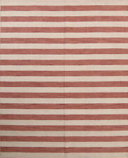 REVERSIBLE Striped Gabbeh COPPER/IVORY Oriental Hand-Knotted Wool Area Rug 8x10