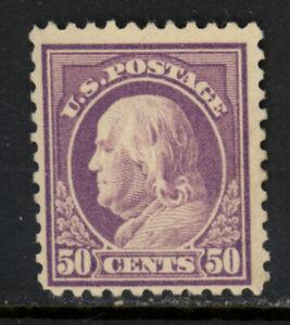 SCOTT 517 1917 50 CENT FRANKLIN REGULAR ISSUE MH OG F-VF CAT $32!